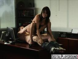 Incredible assistant, Franceska Jaimes is humping her chief to get a hoist and a few days off