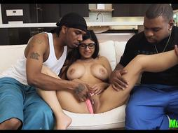 Black Meat double team with Mia Khalifa